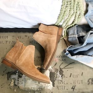 Urban Outfitters • Tan Suede Booties